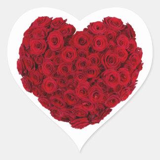 Rose heart shape heart sticker
