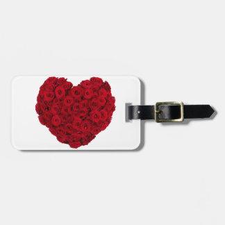 Rose heart shape luggage tag
