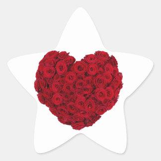 Rose heart shape star sticker