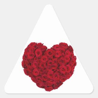 Rose heart shape triangle sticker