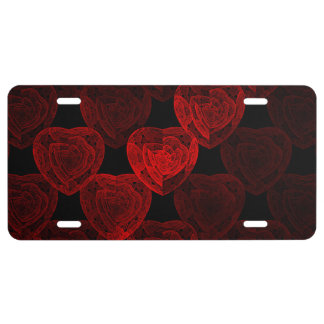 Rose Hearts License Plate