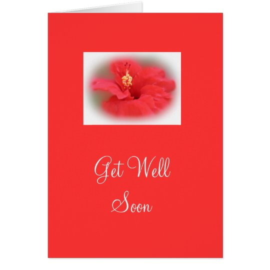 Rose Hibiscus Get Well Card