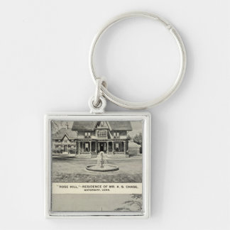 Rose Hill, Judd residence Silver-Colored Square Key Ring