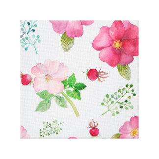 Rose Hip Garden Pattern Stretched Canvas Prints