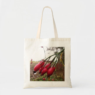 Rose Hips And Rain Budget Tote Bag