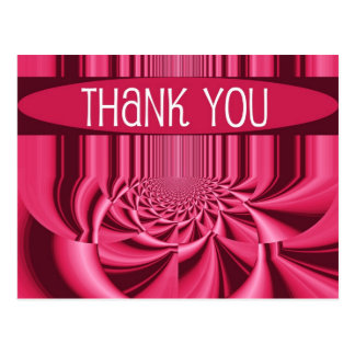 Rose Hypnotic Thank You Postcard