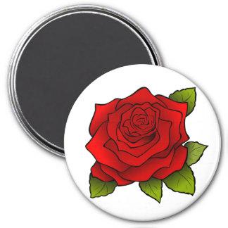 Rose in Full Bloom Round Magnet