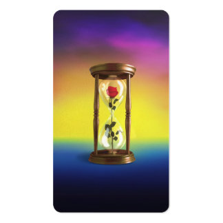 Rose in Hourglass Pack Of Standard Business Cards