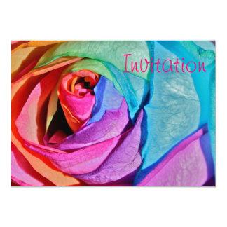 """Rose in multi-colours Invitation 5"""" X 7"""" Invitation Card"""