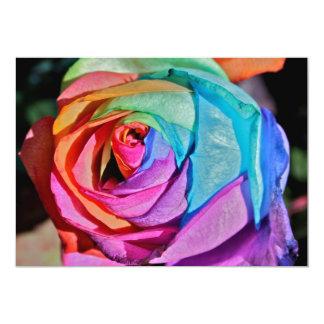 Rose in multi-colours Invitation