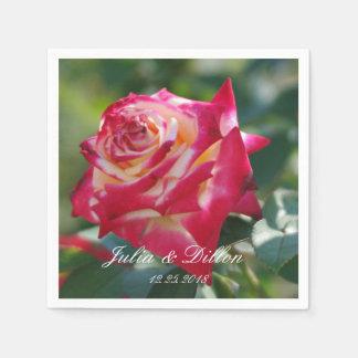 Rose in Red Paper Napkin