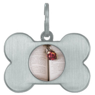Rose in the bible pet name tag
