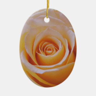 Rose in Yellow Ceramic Oval Decoration