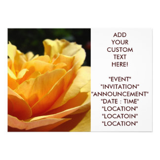 ROSE INVITATIONS Customize the Text Event Invites