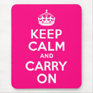 Rose Keep Calm and Carry On Mouse Mat