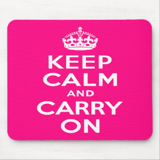 Rose Keep Calm and Carry On Mouse Pad