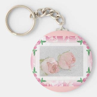 Rose Keychain...Wedding Favor Basic Round Button Key Ring