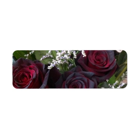 rose label return address label