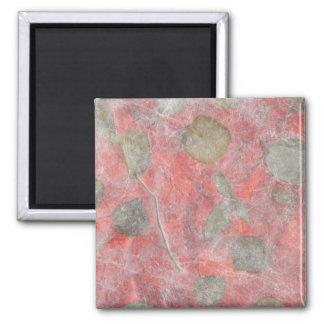 Rose leaves design in red tissue paper refrigerator magnet