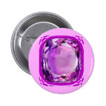 Rose Lilac Amethyst Gemstone by SHARLES Buttons