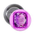 Rose Lilac Amethyst Gemstone by SHARLES Pin