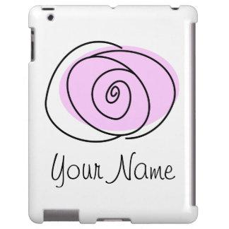 Rose Lilac 'Name' iPad case