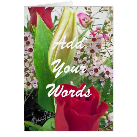 Rose & Lily Bud-customise Card
