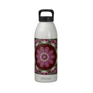 Rose Madder Abstract Tile 120 Reusable Water Bottles