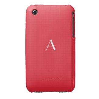 Rose Madder Red iPhone 3G 3GS Case w Monogram iPhone 3 Case