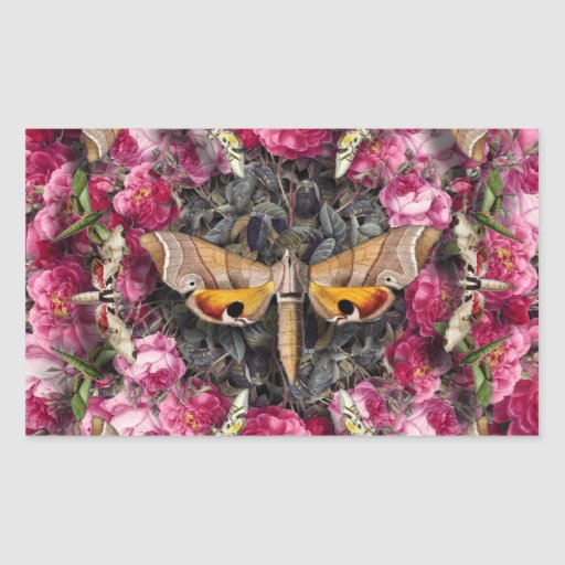 Rose Mandala Rectangular Sticker