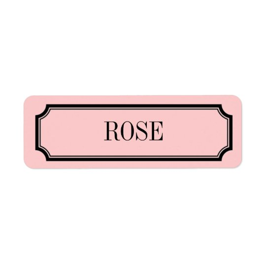 Rose Mansard Placard Fragrance Label