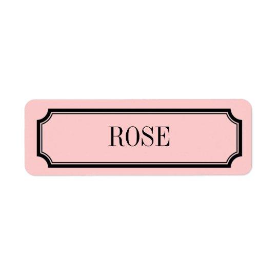 Rose Mansard Placard Fragrance Label Return Address Label