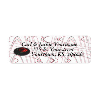 Rose medallion address label-customize return address label