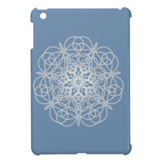Rose medallion in soft silver iPad mini cases