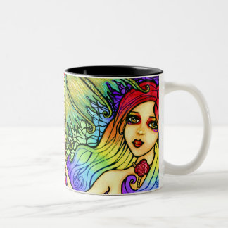 Rose Mermaid Pretty Fantasy Mug