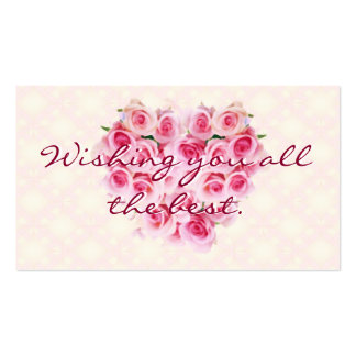 ROSE message card Pack Of Standard Business Cards