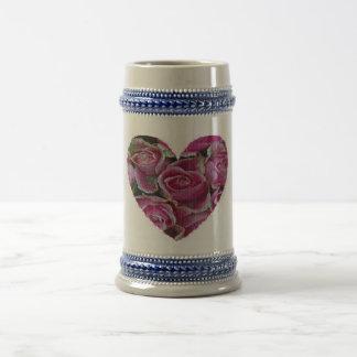 Rose Mosaic Beer Stein