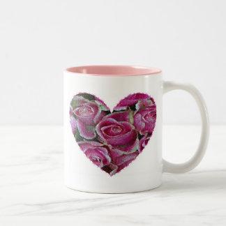 Rose Mosaic Two-Tone Coffee Mug