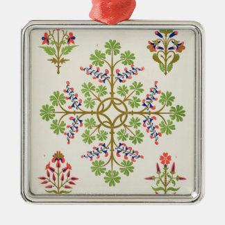 Rose motif wallpaper design, printed by M. & N. Ha Christmas Ornament