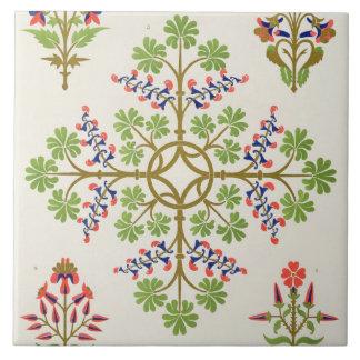 Rose motif wallpaper design, printed by M. & N. Ha Large Square Tile