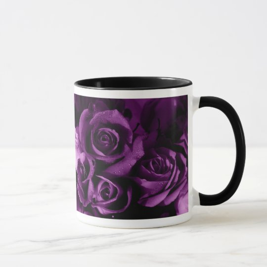 Rose Mug- Purple Mug