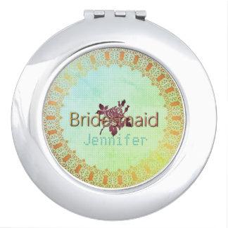 Rose-Needlepoint_Bridesmaid-Monogram_Burgundy-II Vanity Mirrors