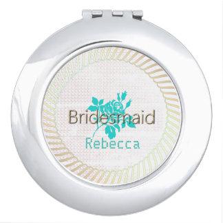 Rose-Needlepoint_Bridesmaid-Monogram-TCGM Mirror For Makeup