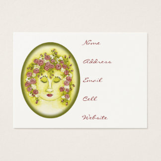 Rose Nymph Oval Profile Card