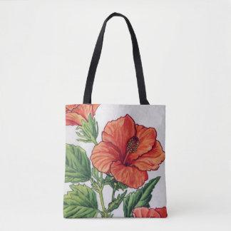 Rose of china - Hibiscus rosa sinensis Tote Bag