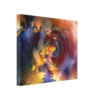 Rose of Heavenly Love - Stretched Canvas Print