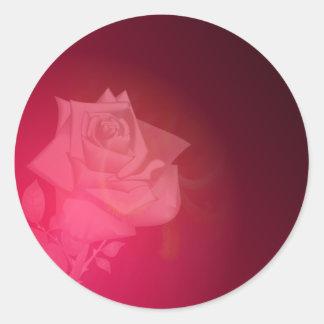 Rose of Light Classic Round Sticker