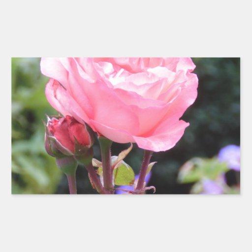 Rose of Love Rectangle Sticker