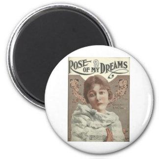 rose of my dreams mrs charlie chaplin fridge magnet