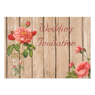 Rose of Orleans Biscuit Wedding Invitation Card